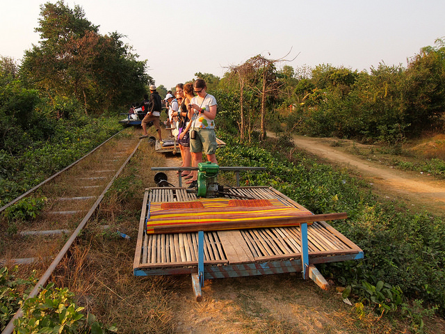 Battambang bamboo train or Norry