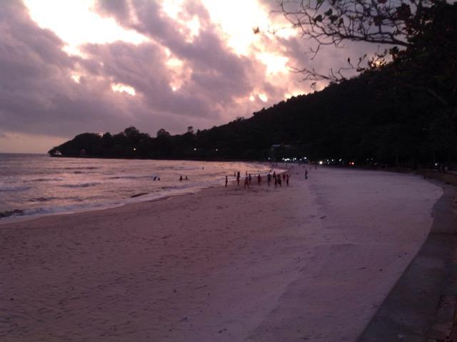Kep Beach at dusk