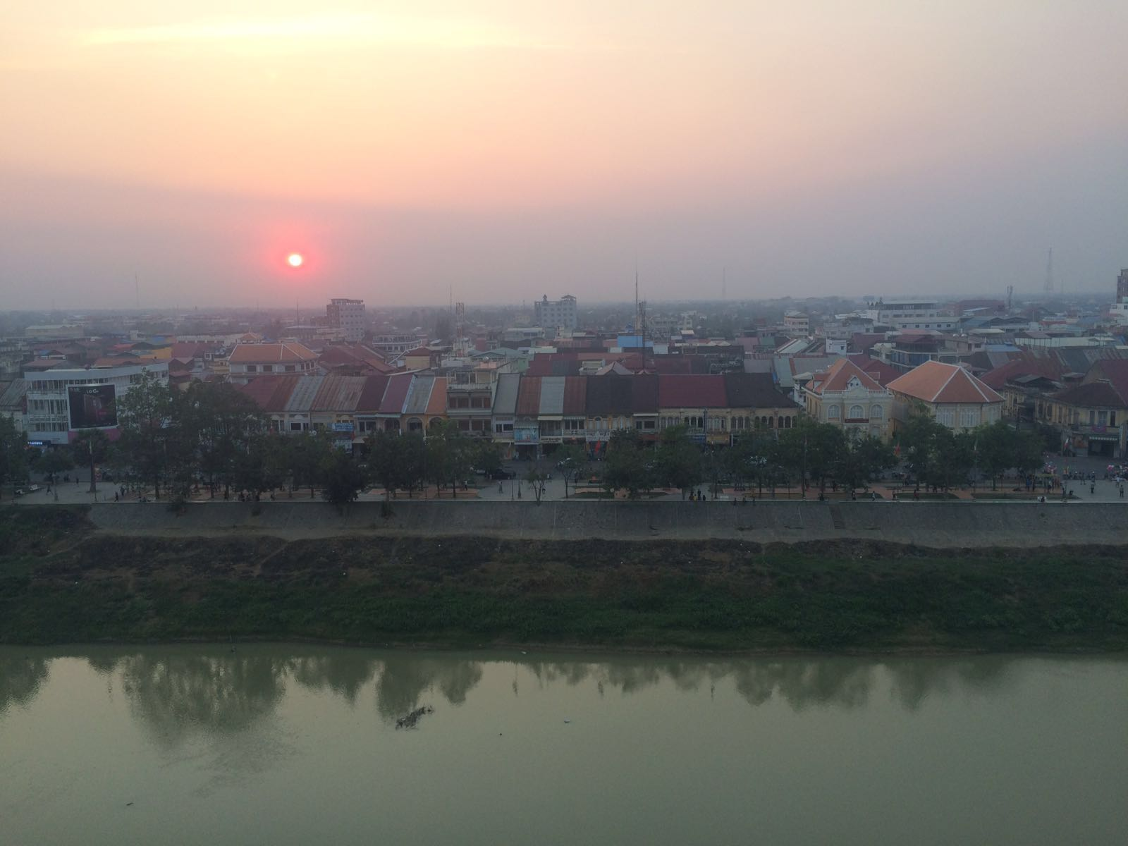 Battambang town - sunset