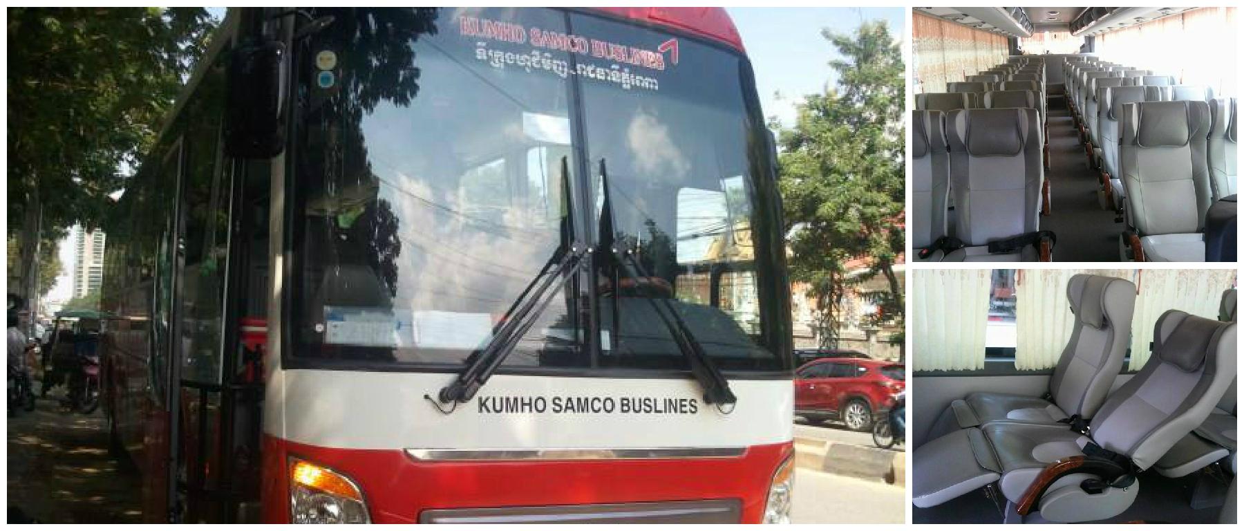 Kumho Samco Bus Ticket, Phnom Penh to Ho Chi Minh, Phnom Penh to Siem Reap, Bus Ticket Online, Night Bus, Cambodia Bus Ticket, Vietnam to Cambodia